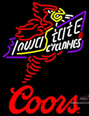 Coors Killer Iowa State Cyclones UNIVERSITY Neon Sign