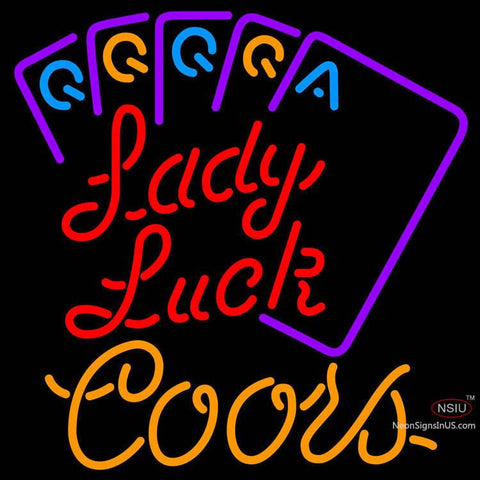 Coors Lady Luck Series Neon Sign x