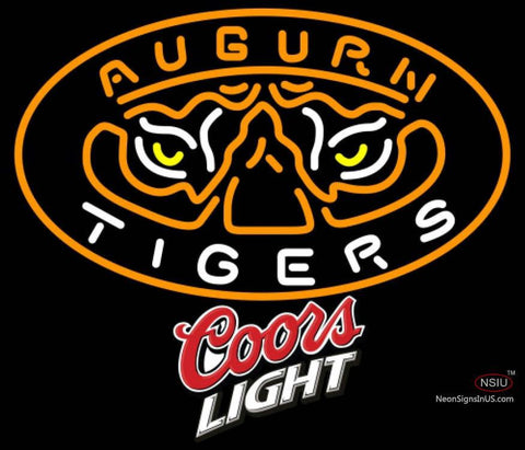 Coors Light Auburn Tigers UNIVERSITY Neon Sign
