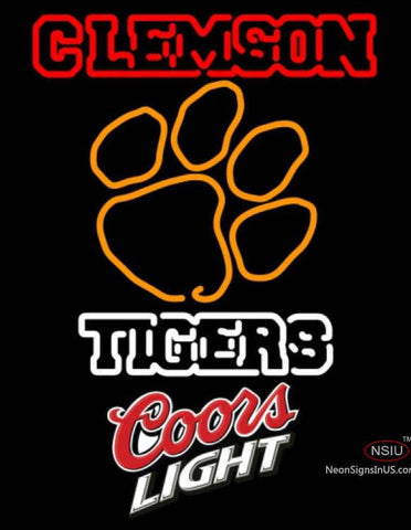 Coors Light Clemson UNIVERSITY Tiger Neon Sign