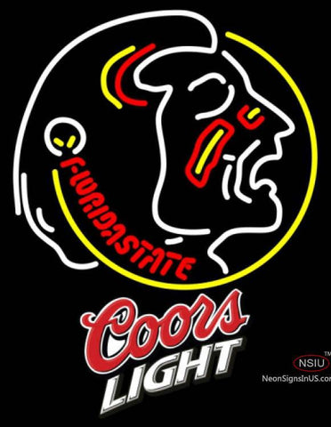 Coors Light Limited Edition Fsu UNIVERSITY Neon Sign