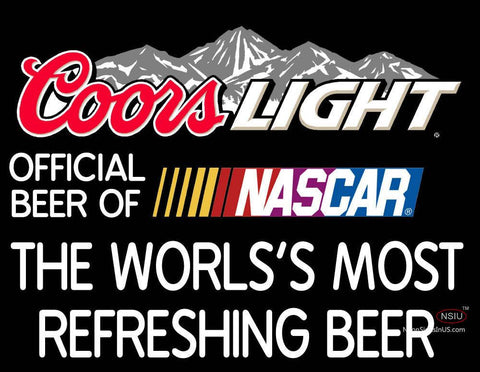 Coors Light Logo With NASCAR- Neon Sign