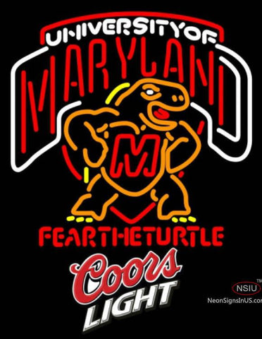 Coors Light Maryland Turtle UNIVERSITY Neon Sign