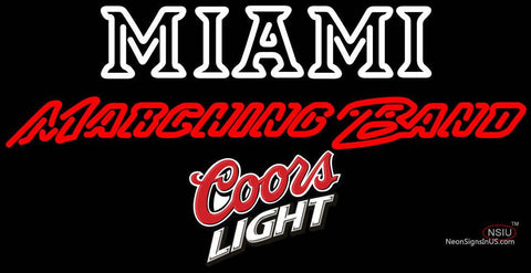 Coors Light Miami UNIVERSITY Band Board Neon Sign  7