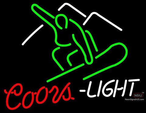 Coors Light Skier Neon sign