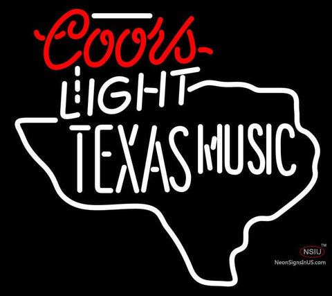 Coors Light Texas Music Star Neon Beer Sign