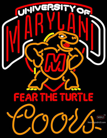Coors Light Maryland Turtle Neon Sign