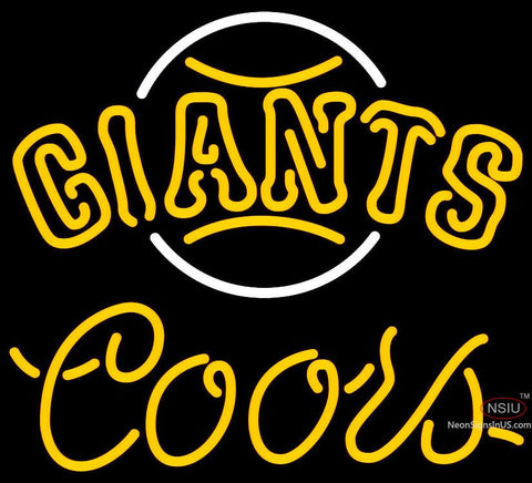 Coors Neon San Francisco Giants MLB Neon Sign