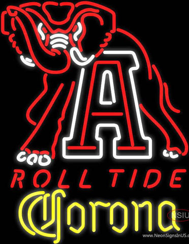 Corona Alabama Roll Tide Real Neon Glass Tube Neon Sign