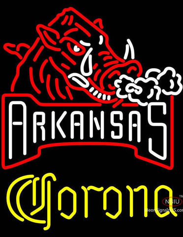 Corona Arkansas Razorbacks Neon Sign