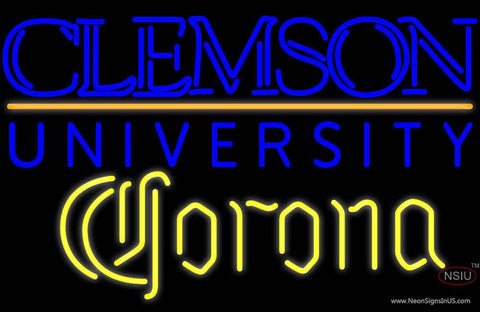Corona Clemson University Real Neon Glass Tube Neon Signs