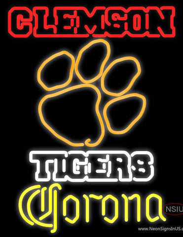 Corona Clemson University Tiger Real Neon Glass Tube Neon Sign