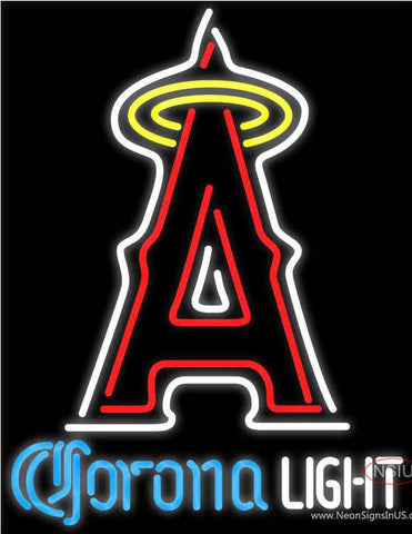 Corona Light Los Angeles Angels Of Anaheim MLB Real Neon Glass Tube Neon Sign