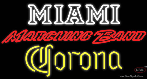 Corona Miami University Band Board Real Neon Glass Tube Neon Signs