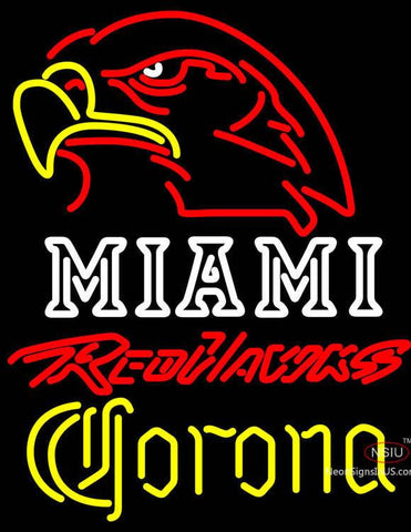 Corona Miami University Red Hawks Neon Sign