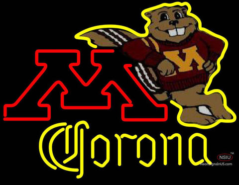 Corona Minnesota Golden Gophers Hockey Neon Sign Type