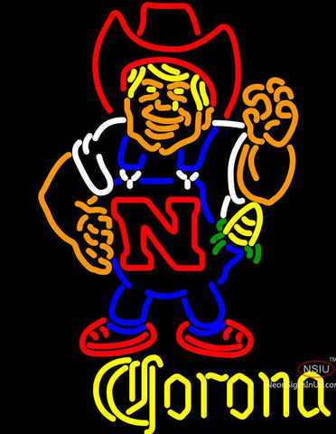 Corona Nebraska Cornhuskers Herby The Husker Neon Sign