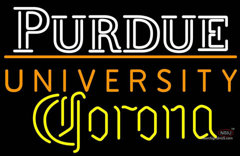 Corona Purdue University Ncaa Logo Neon Sign
