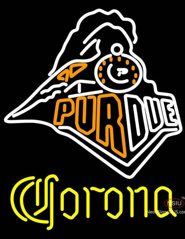 Corona Purdue University Train Logo Neon Sign