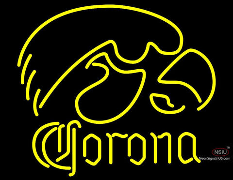 Corona University of Iowa Hawkeyes Neon Sign