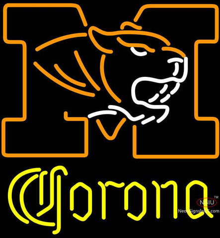 Corona University of Missouri neon sign