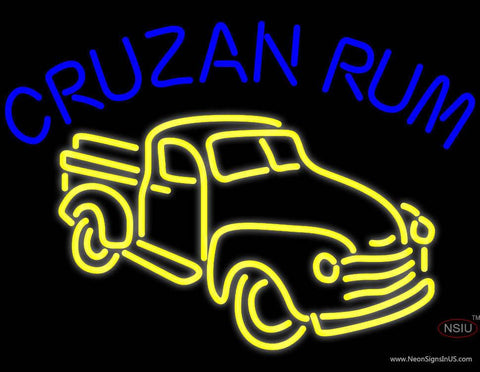 Cruzab Rum Bar Real Neon Glass Tube Neon Sign