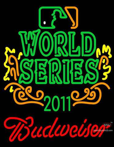 World Series Champions With Budweiser Logo Neon Sign
