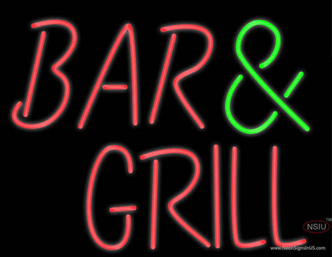 Custom Bar Grill Real Neon Glass Tube Neon Sign