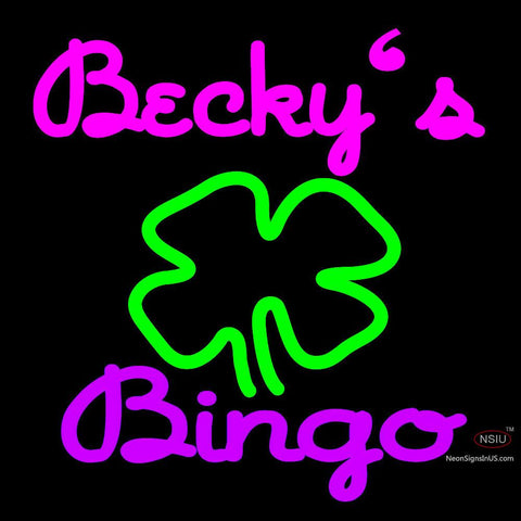 Custom Becky Bingo Logo Neon Sign 7