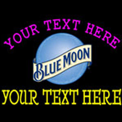 custom blue moon round logo neon beer sign