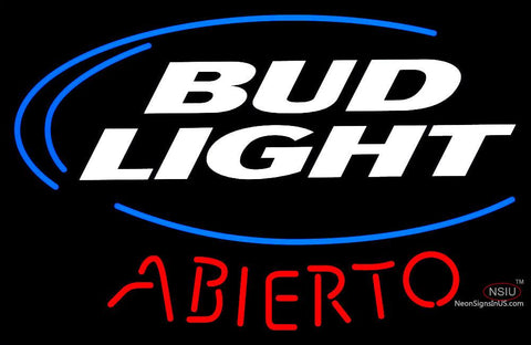 Custom Bud Light Abierto Neon Sign