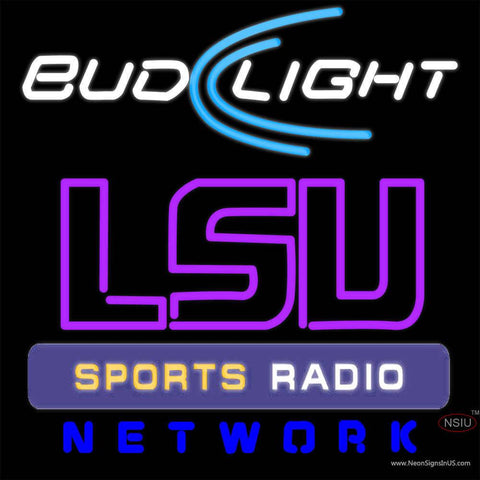 Budlight Lsu Sportbar Network Real Neon Glass Tube Neon Sign