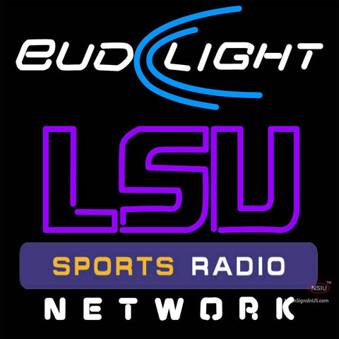 Budlight Lsu Sportbar Network Neon Sign