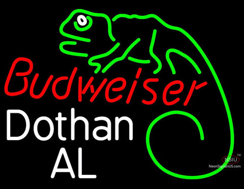 Custom Budweiser Lizard Dothan Al Neon Sign