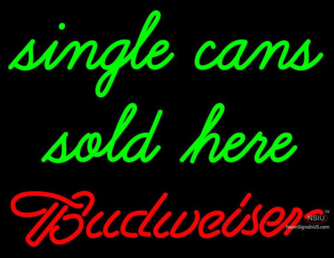 Custom Budweiser Single Can Sold Here Neon Sign