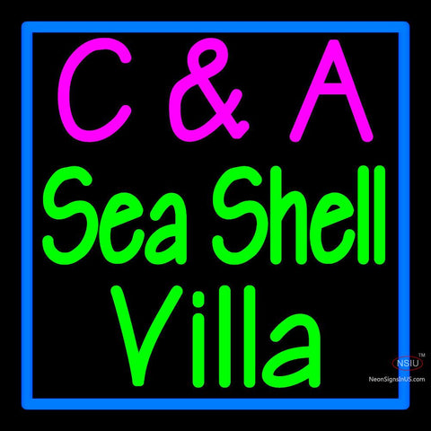 Custom C and A Sea Shell Villa Neon Sign