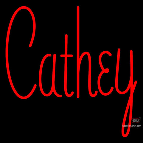 Custom Cathey Neon Sign