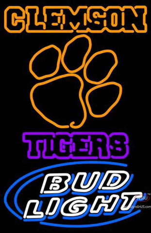 Clemson Tigers Bud Light Logo Neon Sign