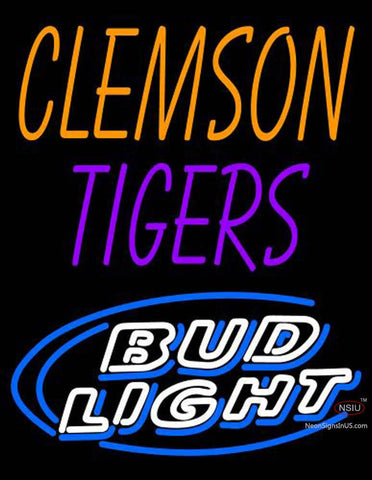 Clemson Tigers Bud Light Neon Sign