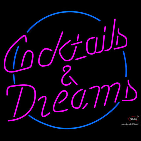 Custom Cocktails Dreams With Border Neon Sign 7