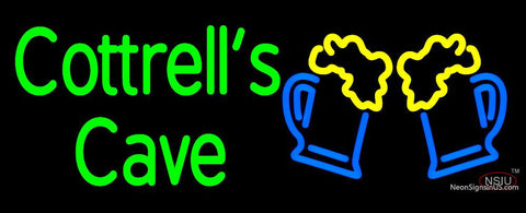 Custom Cottrells Cave With Beer Mug Logo Neon Sign