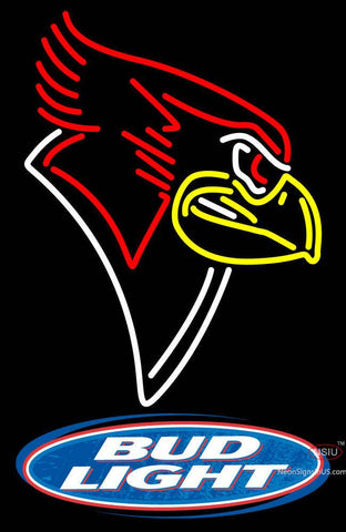 Illinois State Redbirds With Budlight Neon Logo Sign