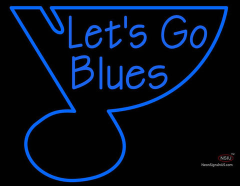 Custom Lets Go Blues Neon Sign
