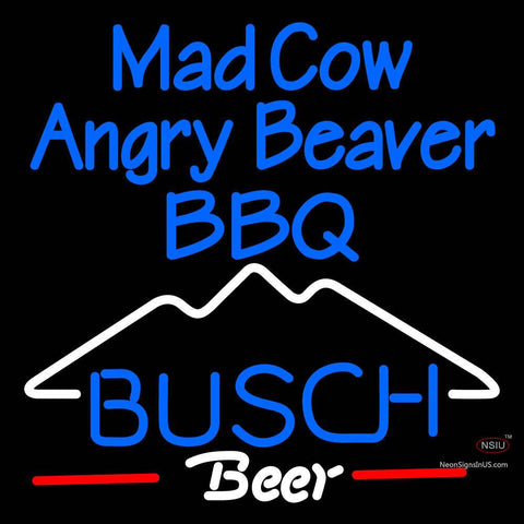 Custom Mad Cow Angry Beaver Neon Sign