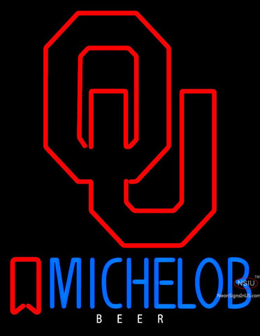 Custom Michelob Logo With Oklahoma Sooner Logo Neon Sign