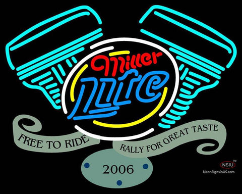 Custom Miller Lite Free To Ride Rally For Great Neon Sign