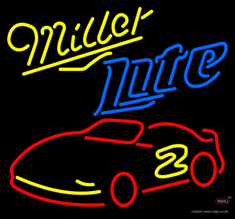 Miller Lite Rusty Wallace Nascar Beer Neon Sign