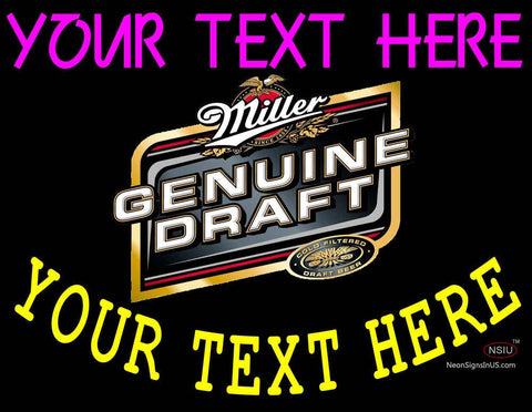 Custom Miller Mgd Neon Beer Sign