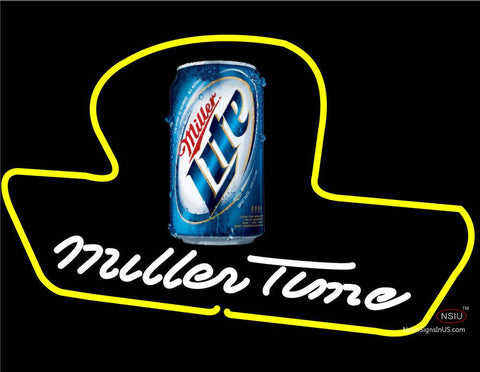 Custom White Miller Time Neon Sign