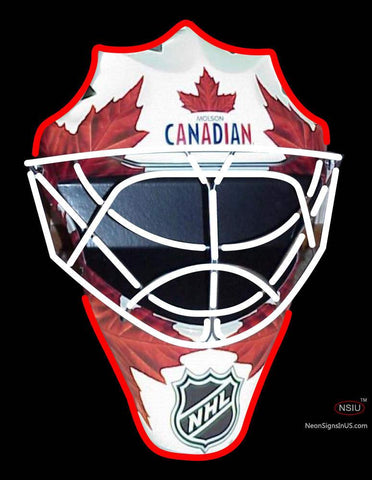 Custom Molson Canadian Hockey Light Up Mask Neon Sign